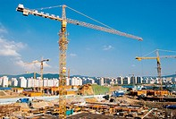 Construction,Crane,Sungnam,Gyeonggi,Korea