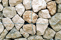 Traditional architecture: dry-stone wall, detail. Mallorca, Majorca, Balearic Islands. Spain