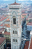 Santa Maria del Fiore bell tower. Florence. Italy
