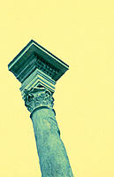 Column in Roman Forum. Rome. Italy