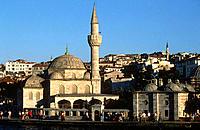 Buyuk Mecidiye Mosque by Bosphorus Strait, Istanbul. Turkey