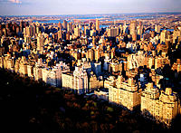 Aerial view of Manhattan. New York City. USA