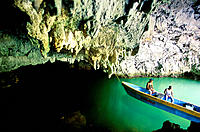 Natural cave, Los Haitises National Park. Dominican Republic