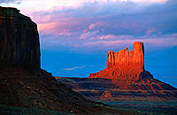 Monument Valley at sunset. Utah, USA