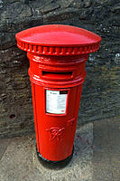 Royal Mail letter box. Builth Wells, Powys, Wales,UK, Europe