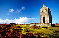 Disused tin mine. Bodmin Moor, Cornwall, UK
