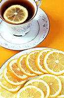 Tea with lemon slices