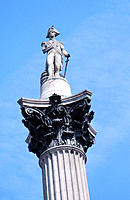 Nelson's Column. Trafalgar Square. London. England