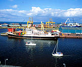 General view of Leith docks, Edinburgh. Scotland