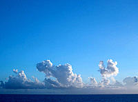 Blue Sky, White Clouds and Water