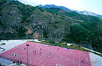 Basketball courts. Frigiliana. Málaga province. Spain