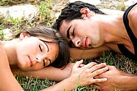 Mate, young, grass, lying, sleeping, resting, close_up,