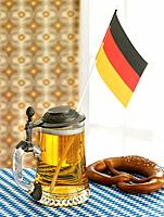 Beer mug with German flag