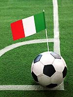 Italian Flag on Top of Soccer Ball