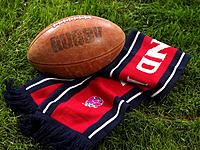 Rugby ball and scarf
