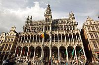 Maison du Roi building, Grand Place. Brussels, Belgium