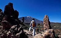 Spain, Europe, Tenerife island, Pico del Teide, Canaries, Europe, Africa, Canary Islands, Los Roques, island, man, wom