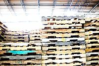 Stacked Slats in Warehouse