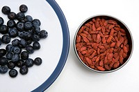 Blueberries and dried goji berries