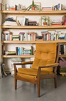 Chair and bookshelf