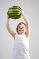 Boy with watermelon
