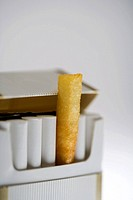 A chip in a cigarette packet