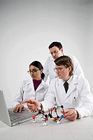 Scientists with laptop