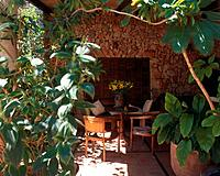 Shady place on the terrace