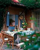 Twilight atmosphere _ mediterranenan terrace