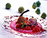 Deep_fried figs with fruity sauce