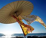 On the beach: Parasol