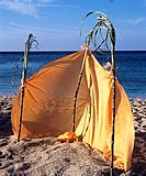 Windbreak on the beach
