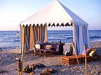 Gazebo tent at the sea