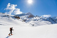 Person skiing, Glockner, Austria