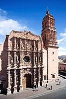 Zacatecas City. The Cathedral. Mexico.