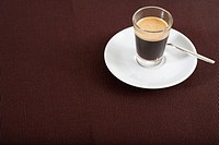 A glass with espresso