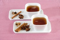 Tea with cinnamon sticks and star_anise