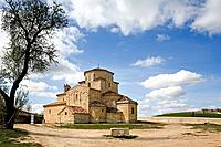 Romanesque church of Nuestra Señora de la Anunciada (built 11th century and refurbished 17th century). Urueña. Valladolid province, Castilla-León, Spa...