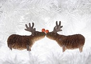 Two reindeer figurines