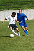 Soccer Player Protecting the Ball