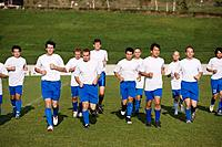 Soccer Team Warming Up