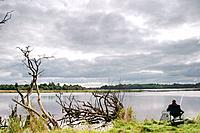 Man fishing. Drumshanbo. County Leitrim. Ireland