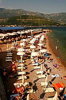 One of the beaches of Budva under the walls