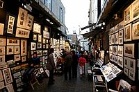 The Rue du Tresot with all the artists