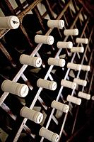 Fully stocked wine rack