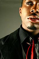 Young stylish African American man, close_up