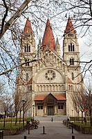 Francis of Assisi  church at Mexikoplatz. Vienna. Austria