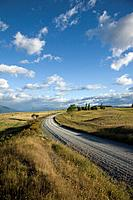 New Zealand, Te Anau, gravel road