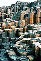 Giant´s Causeway. Columns of basalt rock at the Giant´s Causeway, in County Antrim, Northern Ireland. This site has been designated a World Heritage S...