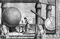 Claudius Ptolemy AD c100_170, Greek_Egyptian astronomer, geographer and mathematician at his observatory in Alexandria, Egypt. Among the instruments s...